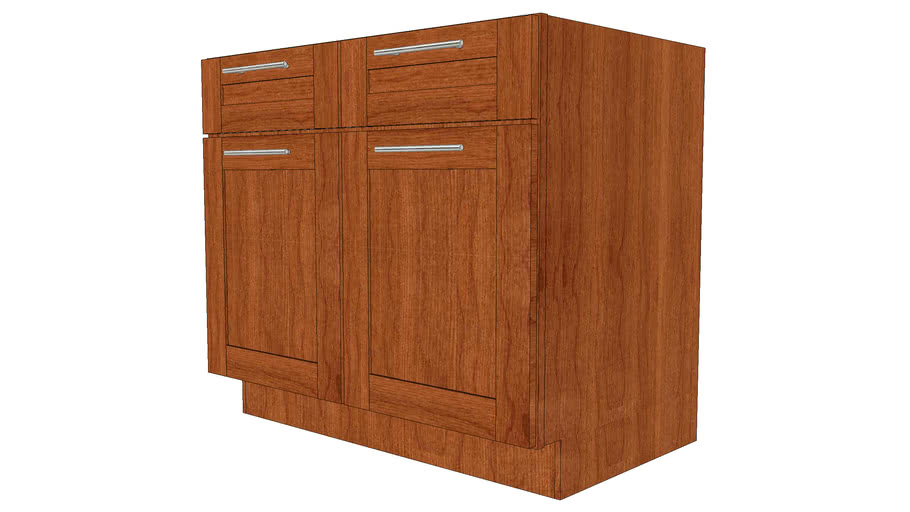 Base Cabinets - Putnam Cherry Cinnamon by KraftMaid® Cabinetry