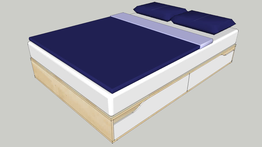 IKEA MANDAL bed with furnishing140x202x27
