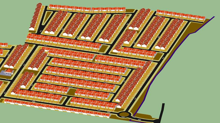 site plan perumahan subsidi