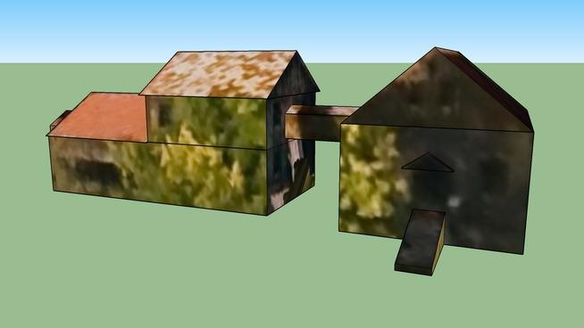 コーンバーンと収穫室および脱ぷ室