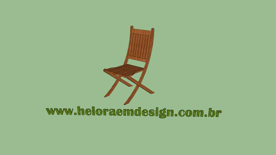 Cadeira dobrável s/ Braço - Modelo Dobrável Redonda - Casa e Jardim - Heloraemdesign.com