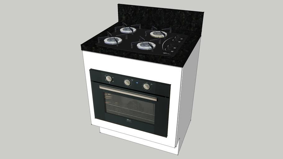 Módulo Cooktop 4B + Forno 50L