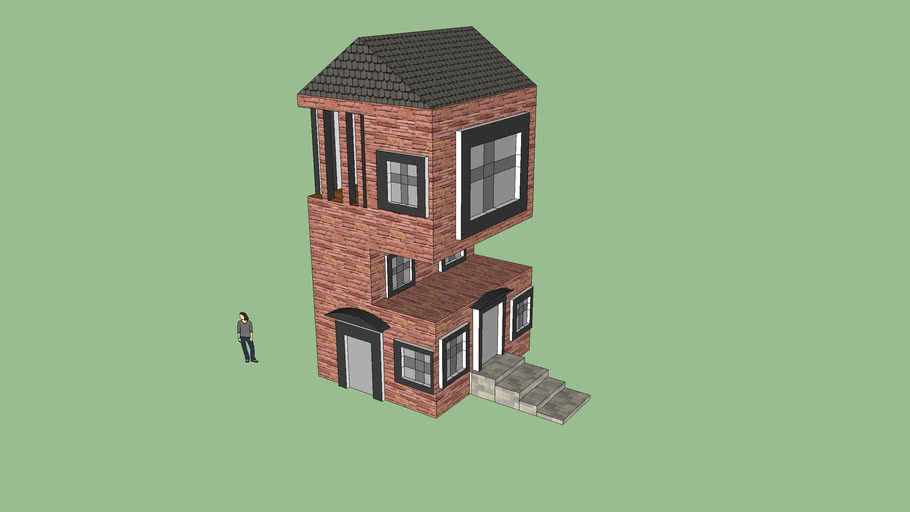 Double Side Cut-Out House