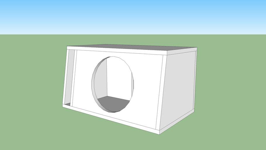 """12"""" Subwoofer Box Angled 1.8 Cu. Ft."""