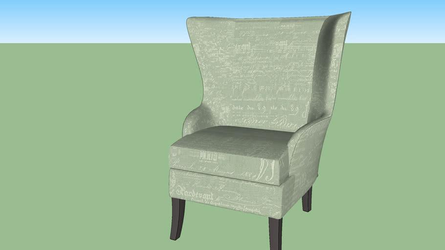 Wing chair Thurston by Ballard Design on document spa