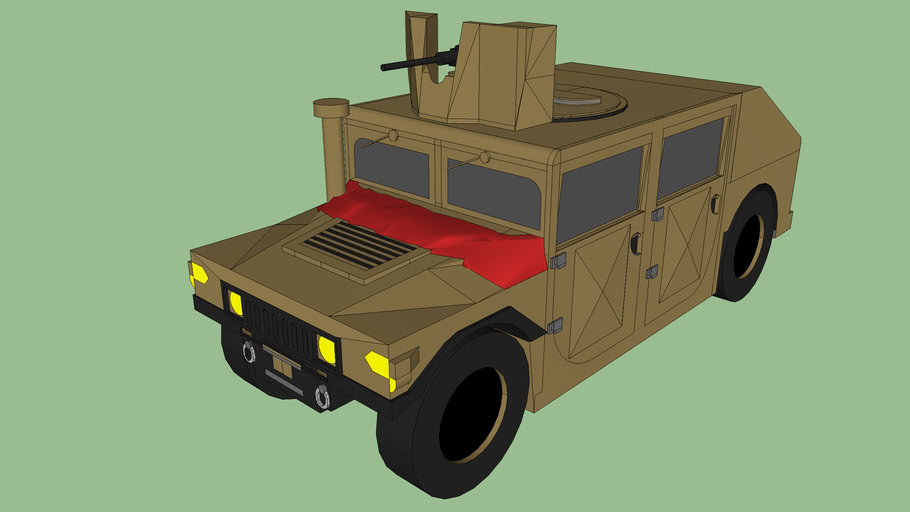 Modefied Humvee and .50 Cal (HMMWV) Desert Tan (Ver. 4.1)