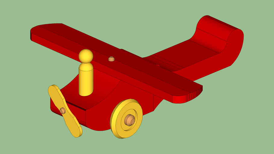 Toy wood airplane