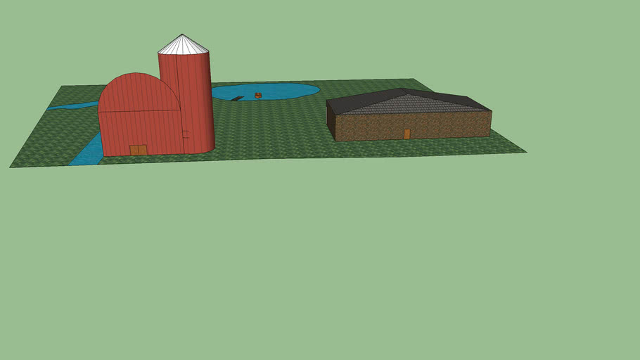 Simple Barn and House