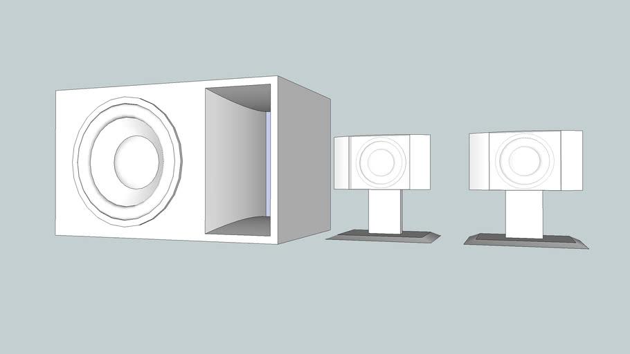 Desktop speaker 2.1