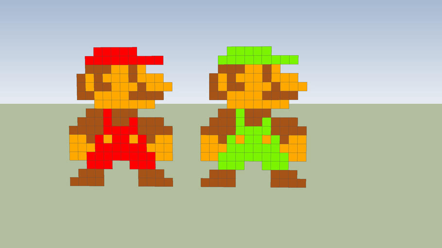 old mario and old luigi