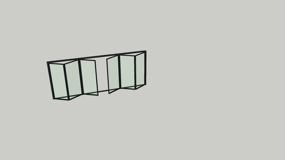 Bi-fold glass door