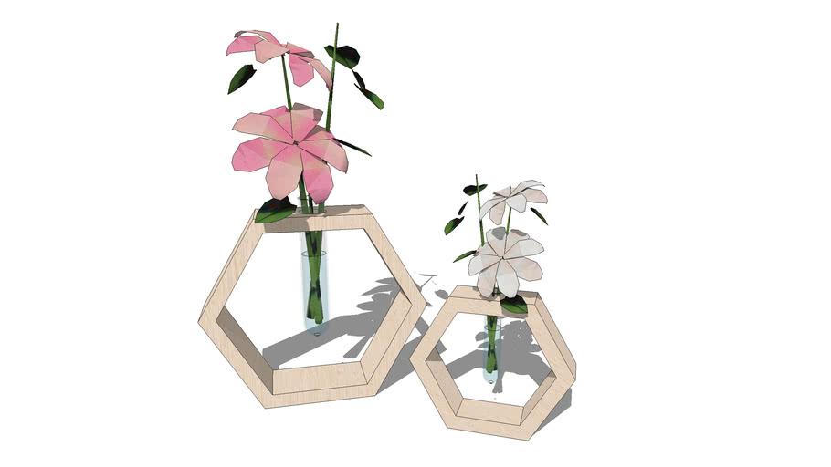 Hexagonal Flower Vases 3d Warehouse