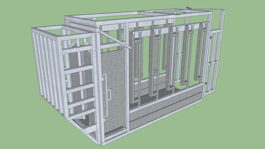 Cage de contention Bovins