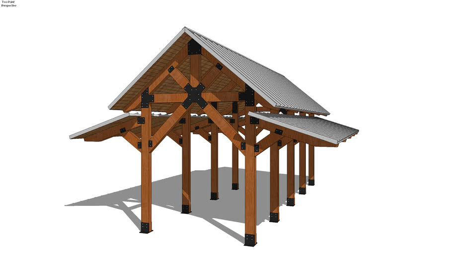 Gable - 24' x 36' Custom Wood