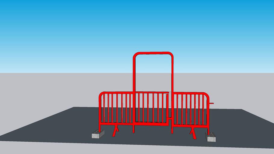 Heras RED Walkthrough Metal Open Hoop Site Access Barrier Gate