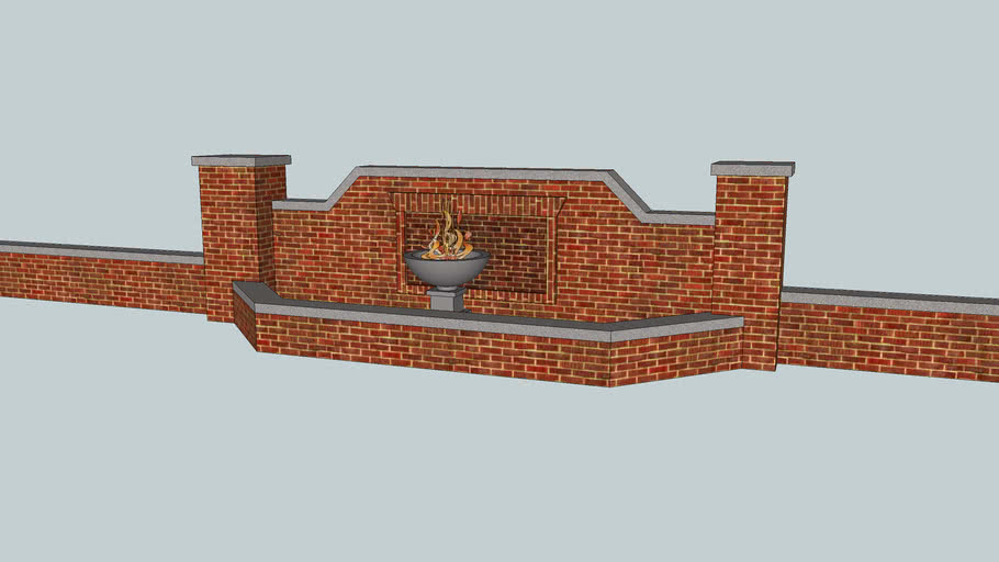 Centerpiece brick Wall