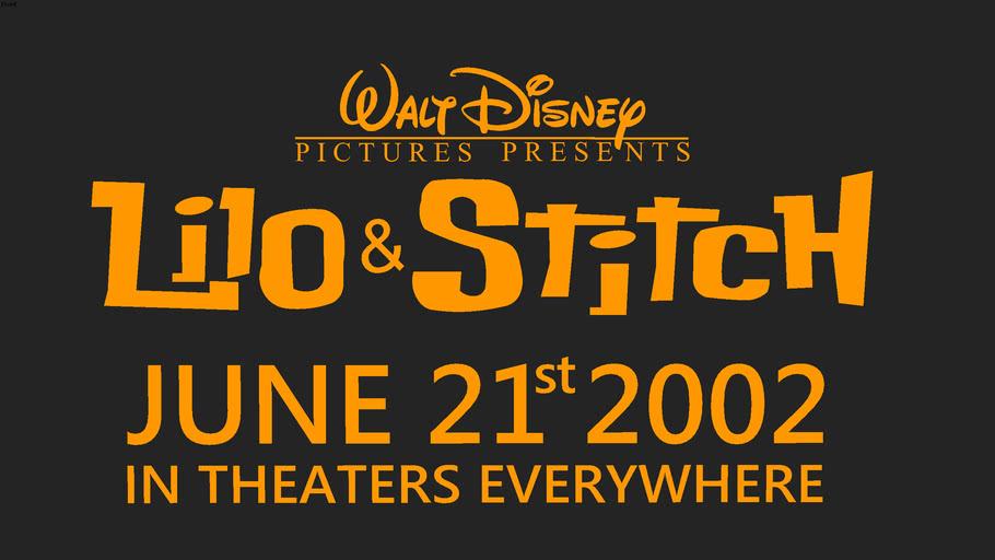 Disney S Lilo Stitch 2002 Poster 3d Warehouse