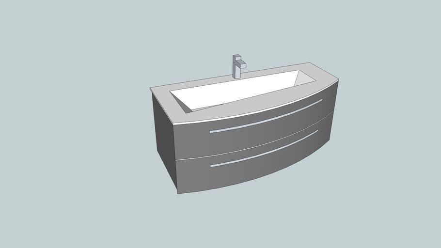 wash-basin asymmetrical