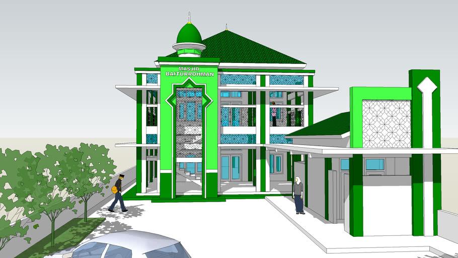 Desain Masjid 2 Lantai