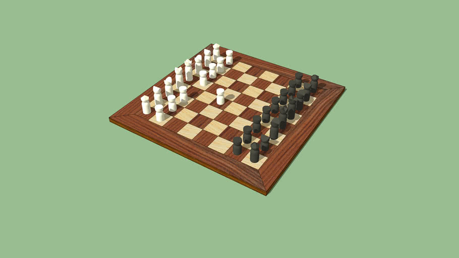 Modern style chess pieces
