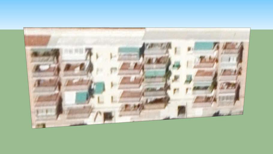 Bloque de pisos de La Elipa, Madrid.