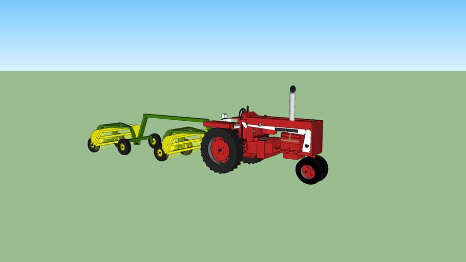 double rake for farming with my farmall 806 custom