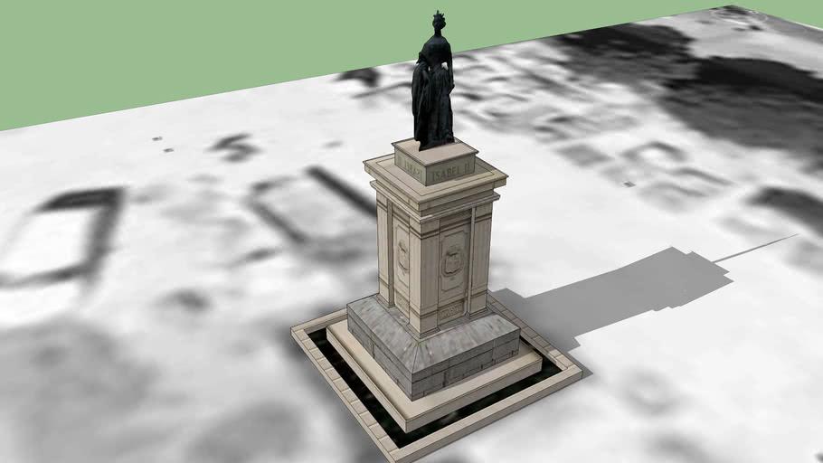 Estatua de Isabel II.