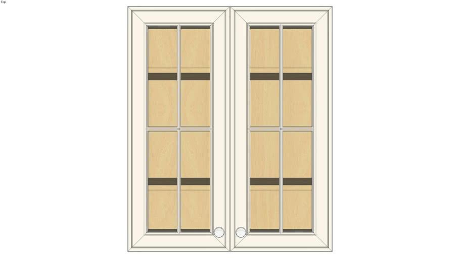 Wall Double Door 36H with Hewitt Bistro Glass Insert