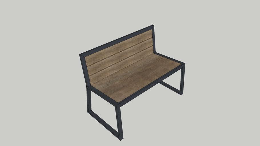 Ghế gỗ chân sắt