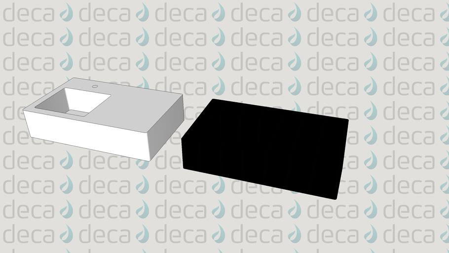 Deca Cuba Suspensa Retangular - Código L.1120.G - Mesa e Gaveta