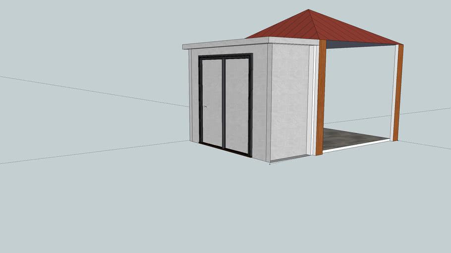 Gazeebo with shed