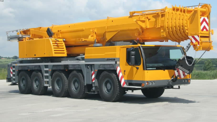 Liebherr LTM 1200 crane (with all positions)