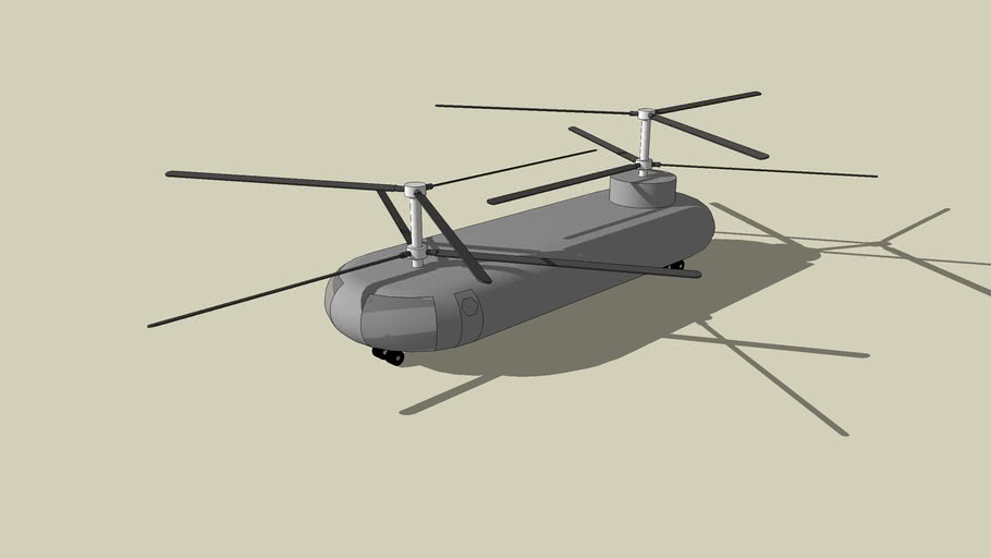 Coaxial Tandem Helicopter