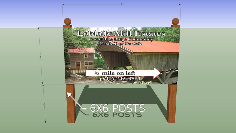 Loblolly Mill Estates Sign