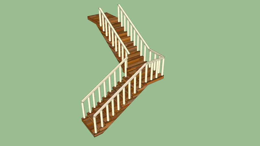 Escada 2 lances (1,20m largura)