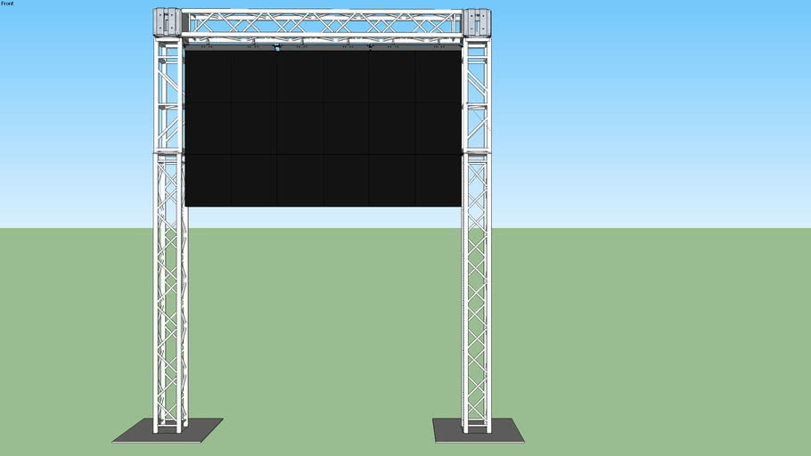 6x3 LED Wall on Truss