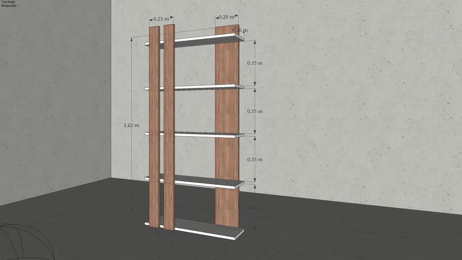 KT-17 decorative wooden shelves