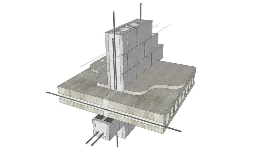 Plank at Bearing Wall - Interior Wall, Intermediate Elevation