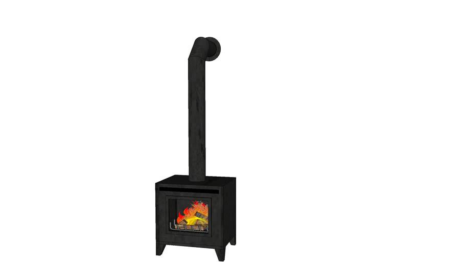 Wood Burning Stove 3d Warehouse, Cast Iron Fireplace Wood Burning Stove