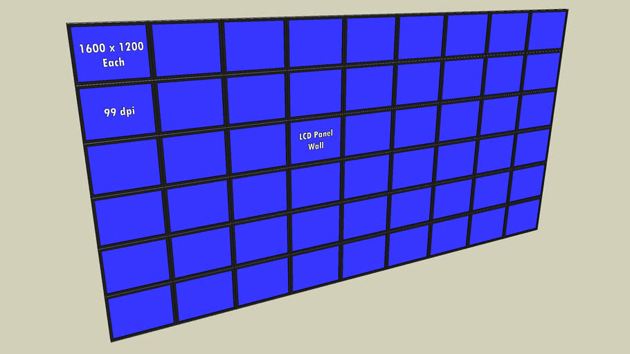 54 Panel LCD matrix Wall