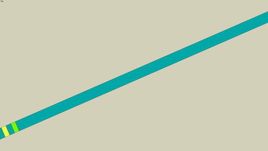 Taekwondo bluebelt with 2 stripes