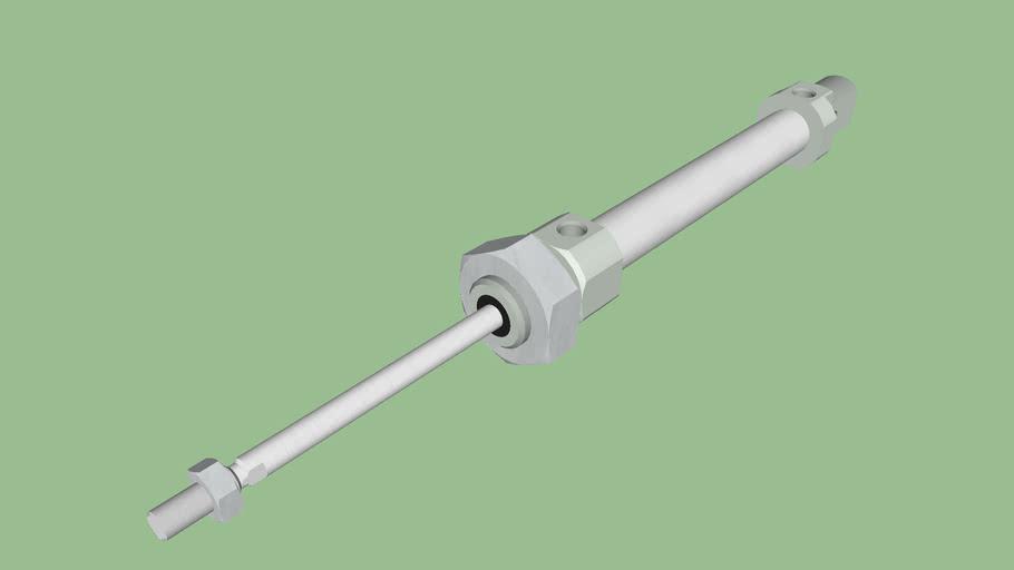 Vérin ISO 6432 diamètre 8 mm.
