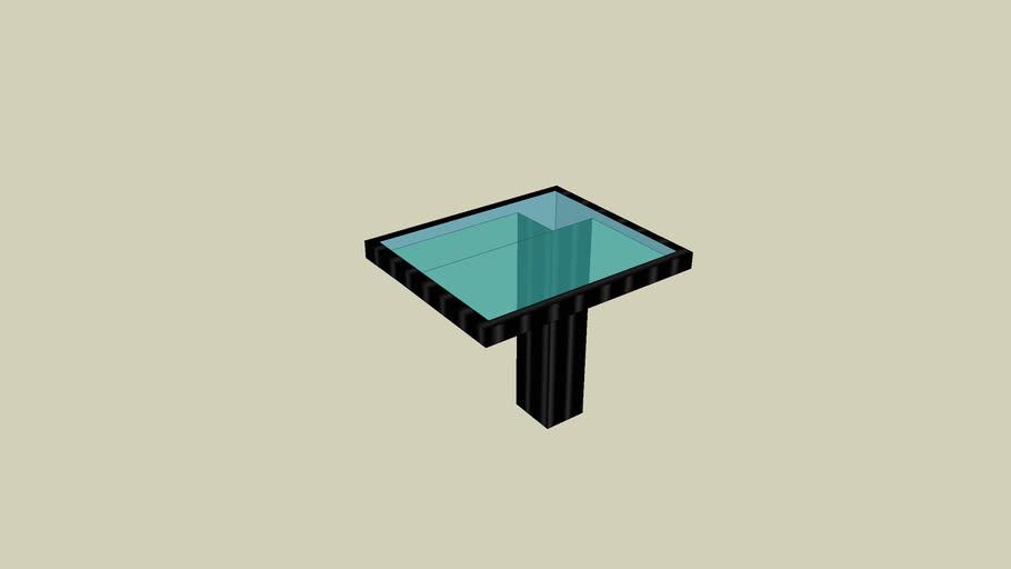Moderner Glastisch