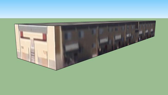 Budova na adrese Albuquerque, Nové Mexiko, Spojené státy americké