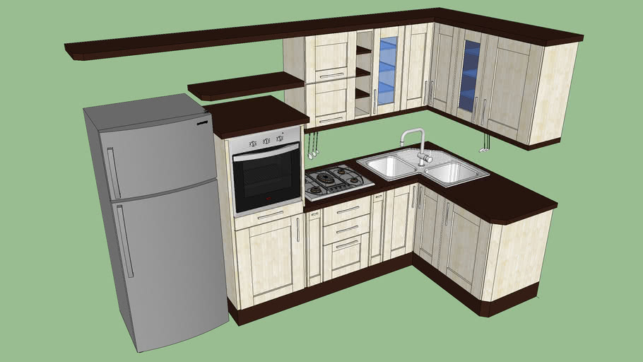 Cucina componibile ad angolo | 3D Warehouse