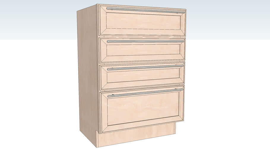 Vanity Base Four Drawer