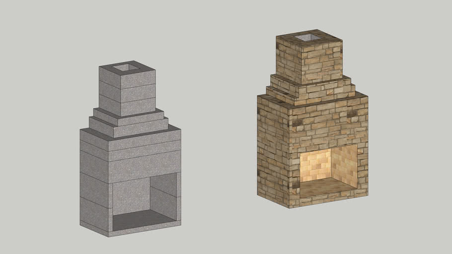 """New Age 36"""" Fireplace Kit with Chimney"""