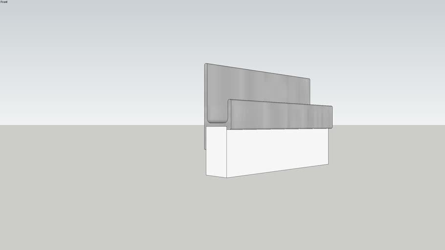 Perfil Puxador MDF - RM 167