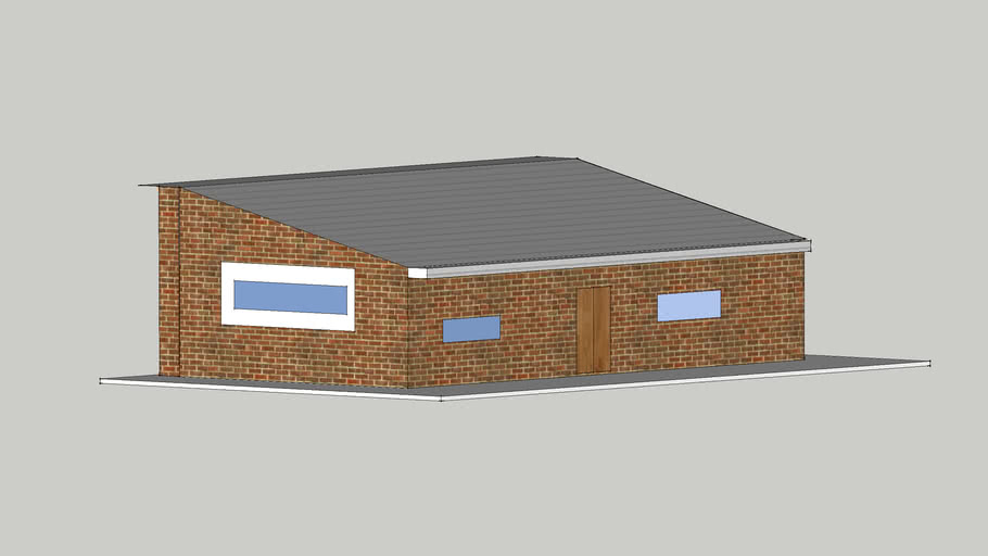 simple sloped roofed