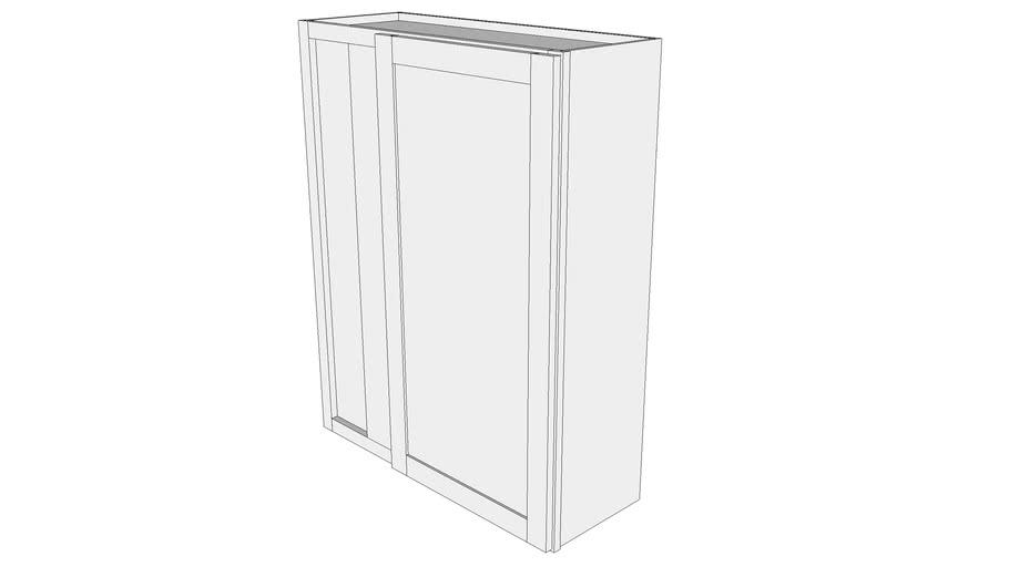 "Bayside Wall Cabinet WBC3342 - 12"" Deep, Blind Corner Cabinet, One Door"